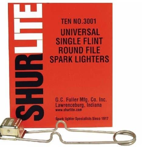 G.C. Fuller Universal Single Flint Round File Spark Lighter