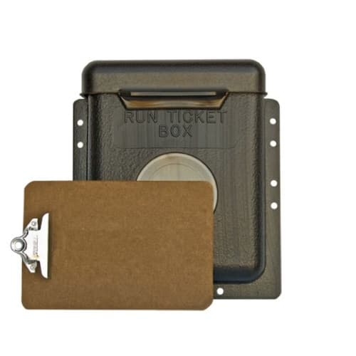 Gearench Run Ticket Box with Hinged Lid