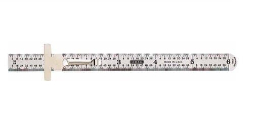 General Tools 150mm Flex Stainless Steel Rule With Pocket Clip