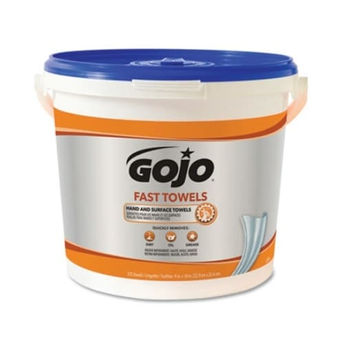 GOJO Fast Wipes Disposable Hand Cleaning Towels 225 ct