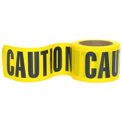 Great Neck Saw 3''x 1000-Ft Non-Adhesive Caution Safety Tape, Yellow