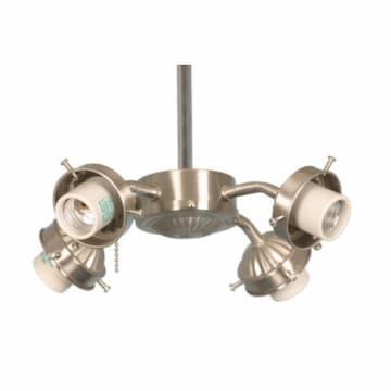 13W LED Light Kit w/ Bulbs, 4-Arm, Brushed Nickel