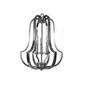 60W Lexington Pendant Light, Entry Cage, 3-Light, Brushed Nickel