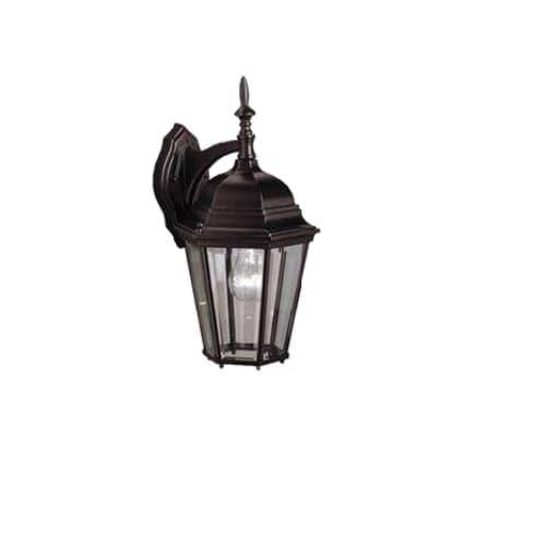 Wall Coach Light, 1-Light, E26, Matte Black