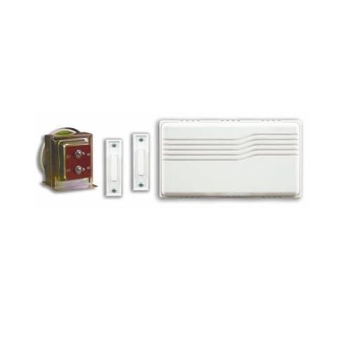 Nicor 2-Lighted Button Chime Kit, White