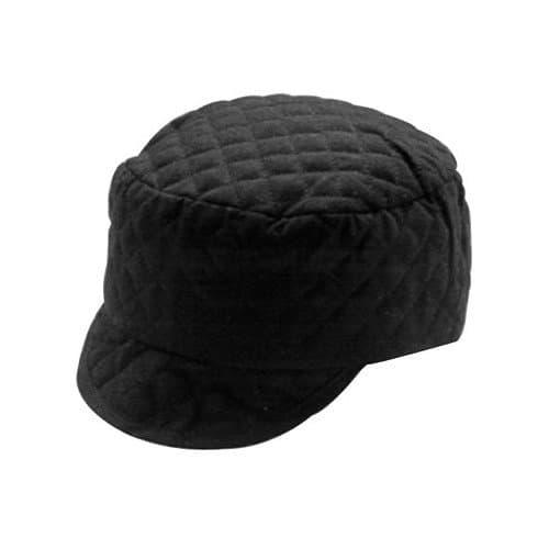 Huntsman Black Quilted Shop Cap, Size 7 1/4