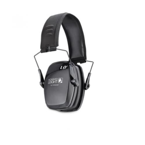 Leightning Earmuffs, 23 dB Noise Reduction, Black