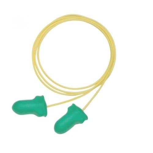 Howard Leight Max Lite® Earplug, Corded, 25 dB, Green