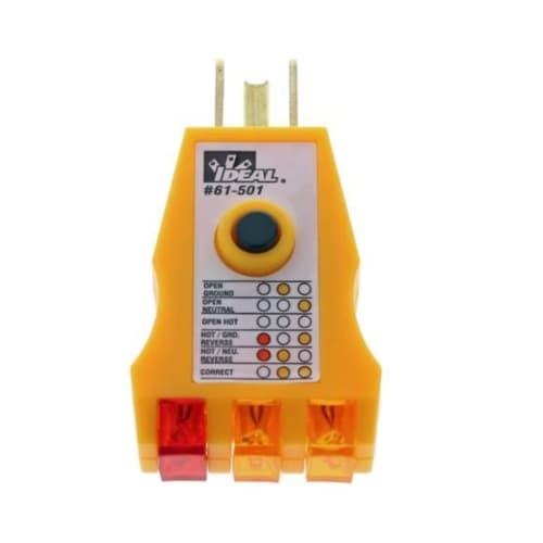 Ideal 125.00 Volt High Performance GFCI Circuit Tester