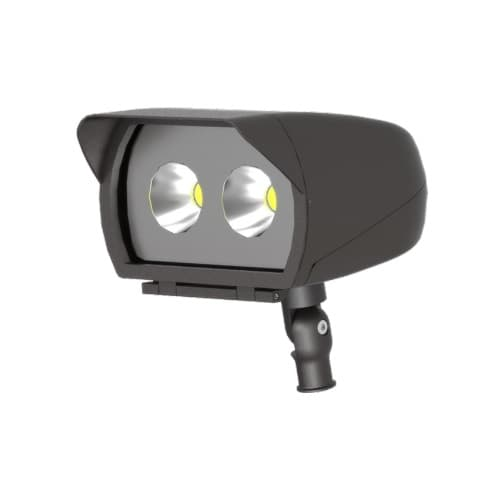 ILP Lighting 34W Small LED Flood Light, 0-10V Dimmable, 4017 lm, 120V-277V, 4000K, White