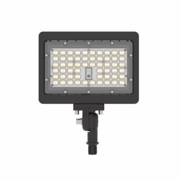 54W LED Compact Flood Light w/ Knuckle Mount, Wide, 120V-277V, Bronze