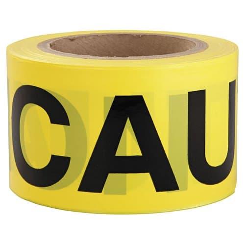 "Intertape Polymer 3"" X 300' Yellow Caution Barricade Safety Tape"