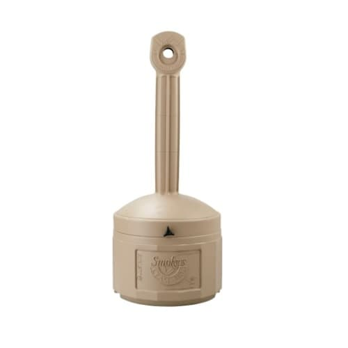 Justrite 16 qt. Beige Smokers Cease Fire Receptacle