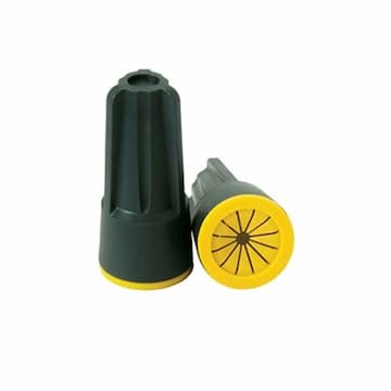 King Innovation Blazing TwistLoc Gray/Yellow Wire Connector, Pack of 100