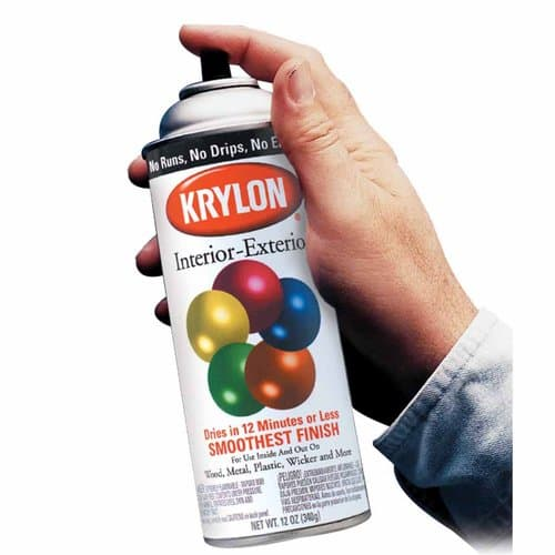 Krylon 12oz Interior/Exterior Glossy Black Aerosol Spray Paint