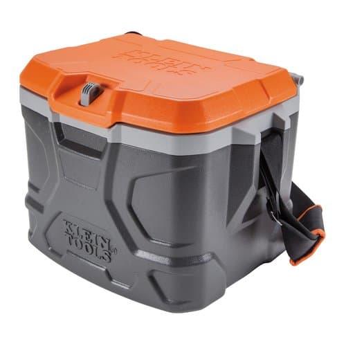 Klein Tools 17 Quart Black/Orange Tradesman Pro Tough Box Cooler