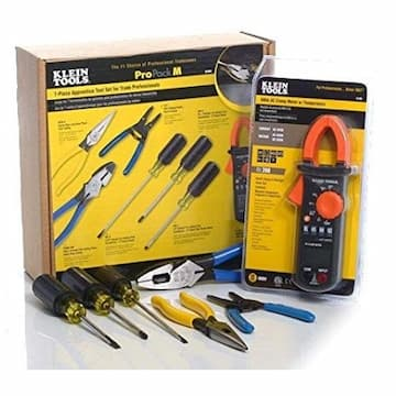 Apprentice Tool Set w/Clamp Meter, 7 Piece
