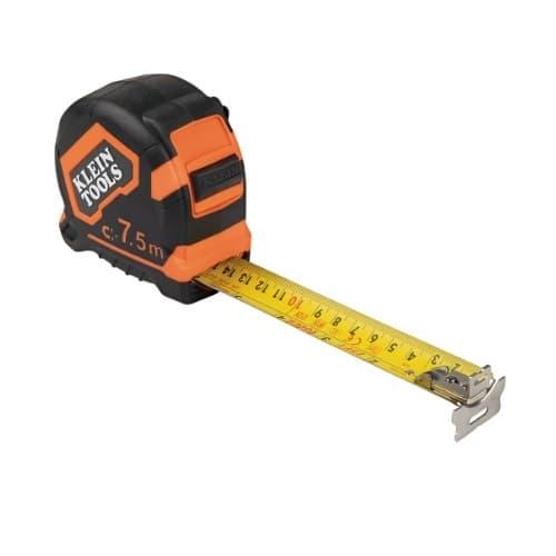 Klein Tools 7.5-Meter Tape Measure, Double-Hook