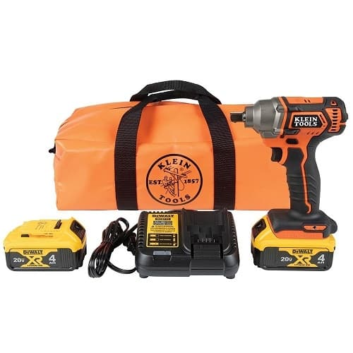 Full Kit, 1/2-in Detent Pin Compact Impact Wrench, Battery Operated