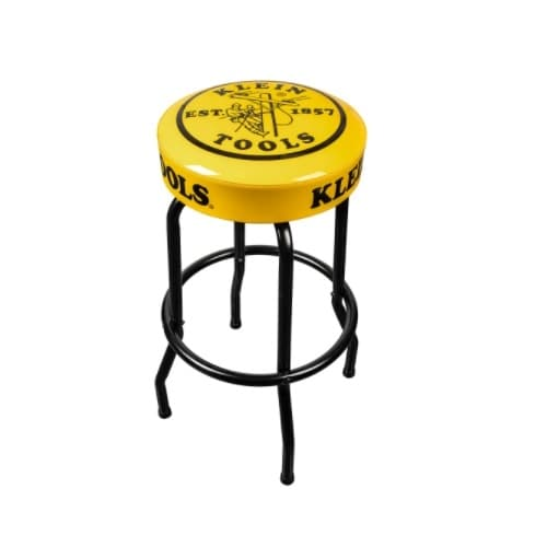 Klein Tools Counter Stool, Swivel Seat, Yellow