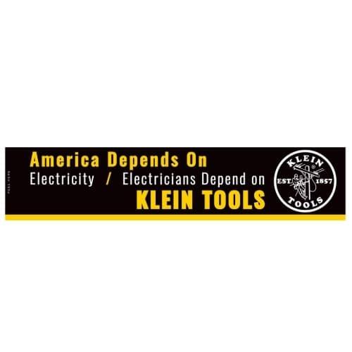"Klein Tools ""Electricians Depend on Klein Tools"" Bumper Sticker"