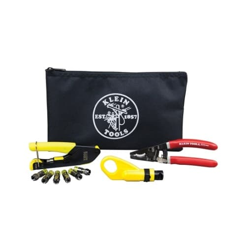 Coax Cable Installation Kit with Zipper Pouch