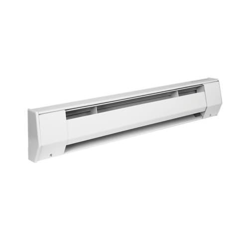 6-ft 1125W/1500W Electric Baseboard Heater, 208V/240V, 6.3 Amp, White
