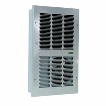 20000 BTU/H Large Hydronic Wall Heater, 1000 Sq Ft, 375 CFM, 120V, White