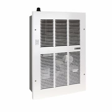 11200 BTU/H Medium Hydronic Wall Heater, 500 Sq Ft, 375 CFM, 120V, White