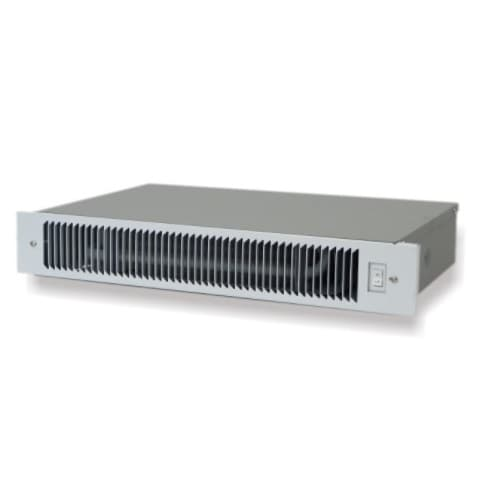 3400 BTU/H Hydronic Kickspace Heater w/ Aqua & Fan, 120V, Black