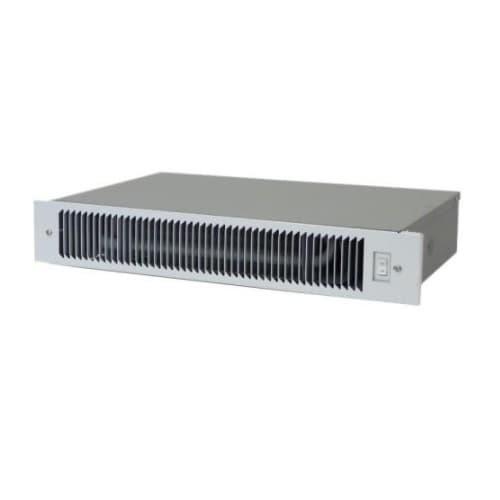 5100 BTU/H Under-Cabinet Hydronic Heater, 200 Sq Ft, 83 CFM, 120V, White