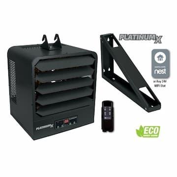 10kW PlatinumX Unit Heater, 1 Phase, 725 CFM, 208V/240V, Gray