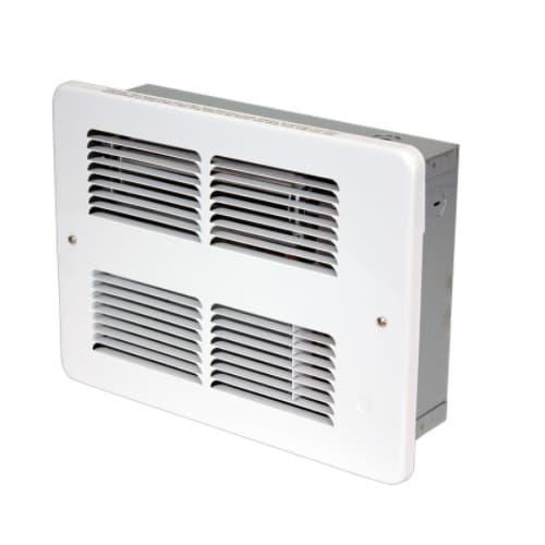 750W/1500W Small Wall Heater, 175 Sq Ft, 75 CFM, 208V, White