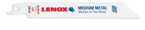 Lenox 18TPI Bi-Metal Reciprocating Saw Blade, 6''