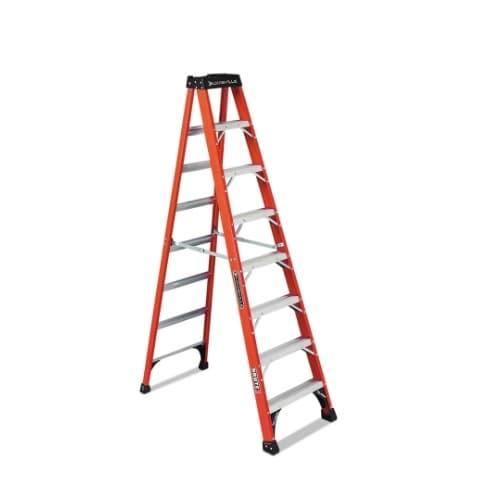 Louisville Ladder 8-ft x 24.88-in 375 Fiberglass Step Ladder, Max. Capacity 375lb.