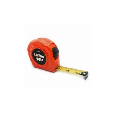 Lufkin 3/4 x 16' Power Tape, Orange