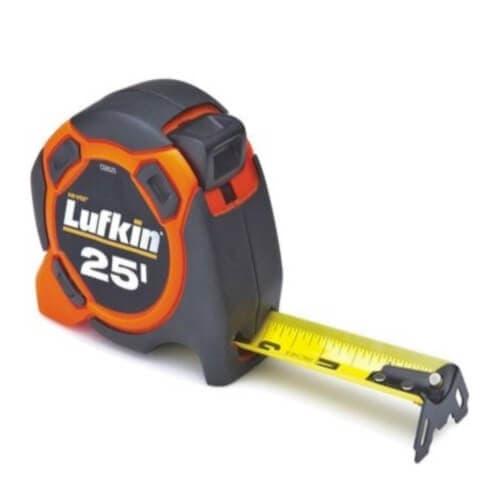 """Lufkin 1"""" x 25' Orange Power Measuring Tape"""