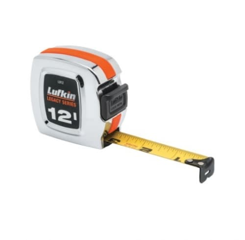 .75-in X 12-ft Tape Measure, Chrome