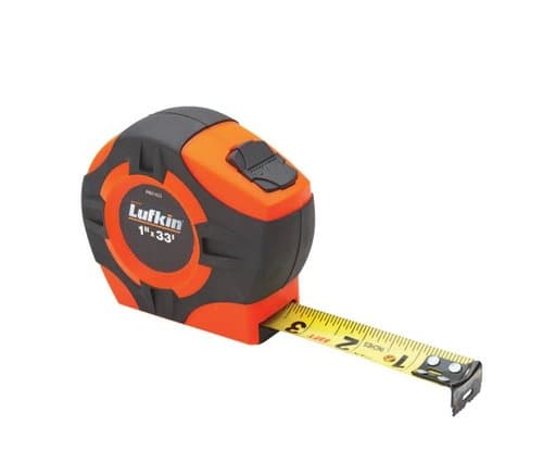 Lufkin 12' Hi-Viz Orange P1000 Series Power Tape Measure