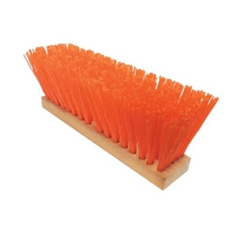 """Magnolia Brush 16"""" Heavy-Gauge Orange Plastic Street Broom"""