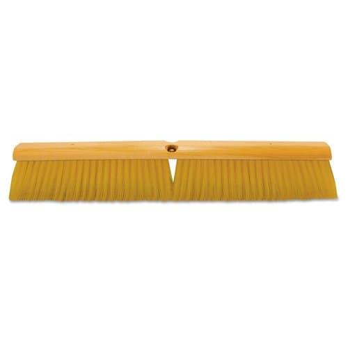 "Magnolia Brush 24"" Yellow Plastic Floor Brush W/ 60"" Handle"