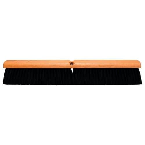 """Magnolia Brush 18"""" Black Plastic Floor Brush W/ 60"""" Handle"""
