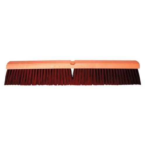 "Magnolia Brush 24"" Brown Plastic Garage Brush w/60 in Handle"