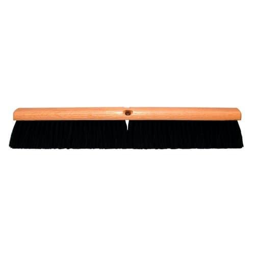 """Magnolia Brush 36"""" Stiff Black Horsehair Floor Brush w/60"""" Handle"""