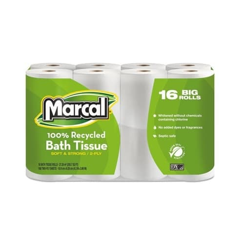 Marcal 2-Ply, 100% Premium Recycled Toilet Tissue