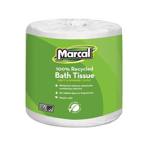 Marcal 2-Ply Embossed 100% Premium Recycled Toilet Tissue