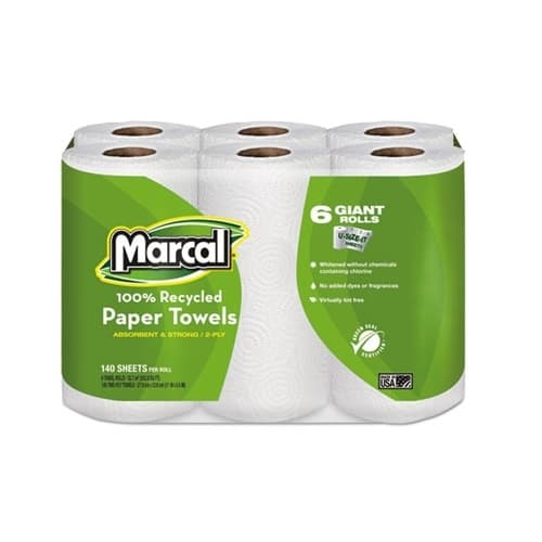 Marcal Giant Roll Premium Recycled Towels-5.75 x 11