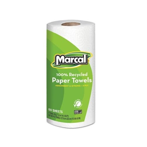 Marcal 100% Premium Recycled Roll Towels-9 x 11