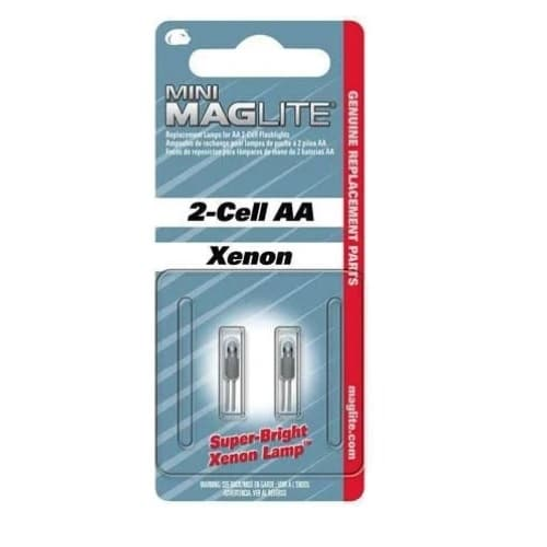 Mag-Lite Mini Mag Flashlight Xenon Bulb, AA-2 Pack