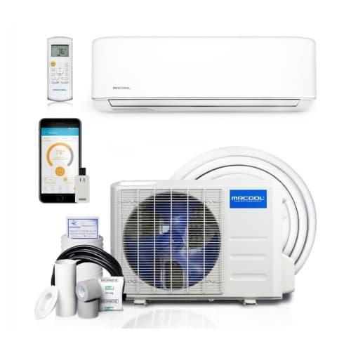 MrCool 1.8-ft Mini Split Air Conditioner & Heat Pump, Up to 500 Sq Ft, 12000 BTU/H, 230V, White